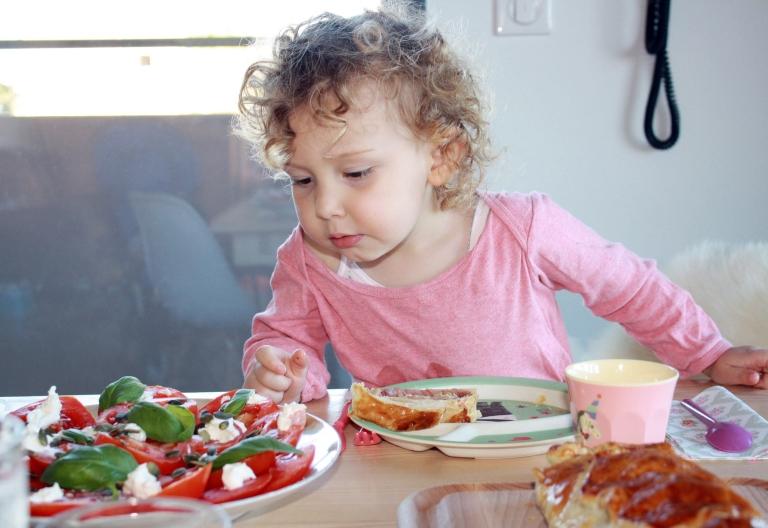 salade tomates basilic par violette