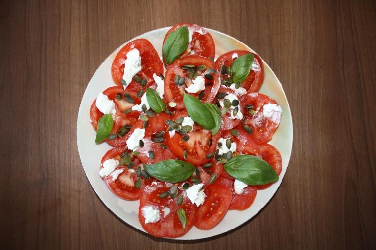 salade tomates mascaporne basilic
